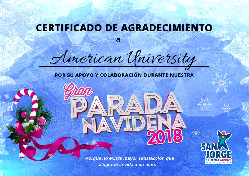 18va Parada Navideña 2018 San Jorge Children & Women's Hospital